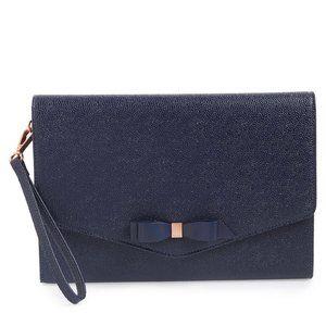 NWT Ted Baker London Krystan Bow Leather Envelope